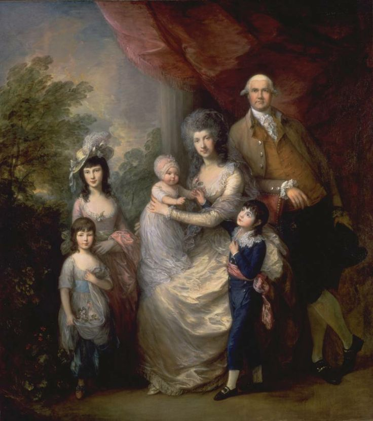 """The Baillie Family"", Thomas Gainsborough, ca. 1784; TC N00789"