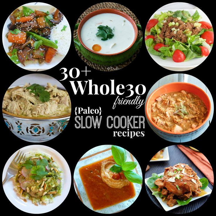 Easy Paleo crock-pot recipes that are Whole30 friendly!