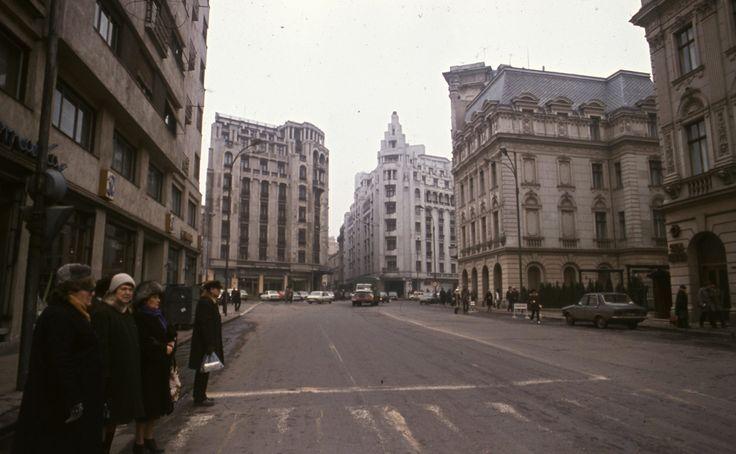 Strada Ion Câmpineanu Un București gri, în anul 1986