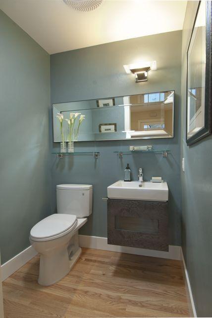 Powder room with a spacious feel contemporary powder room san francisco canyon design - Bathroom design san francisco ...