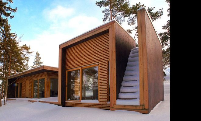 Folded Structure For a Wooden Summer House
