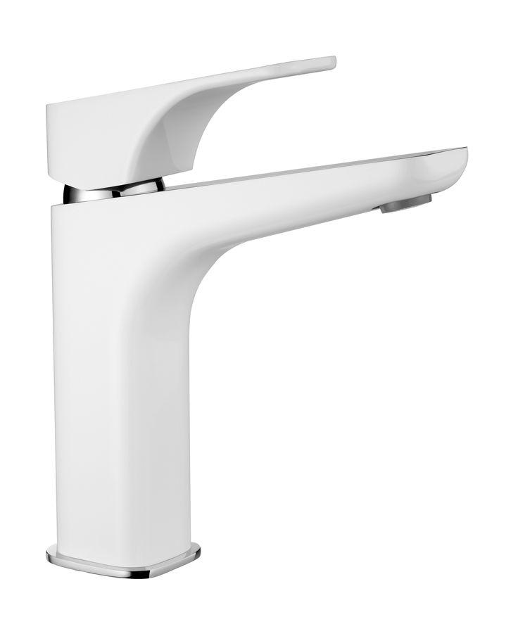 Hiacynt washbasin mixer with raised body, chrome/white, Deante