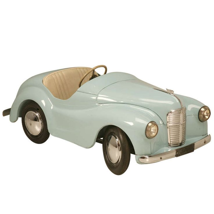 1stdibs | Original Vintage Austin J40 Joy IV Roadster Blue Over White Pedal Car #17337