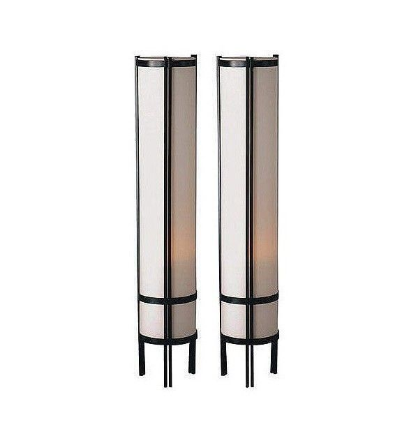 Floor Lamps For Living Rooms Bed Room Japanese Lamp Contemporary Set of 2 Two #OreInternational