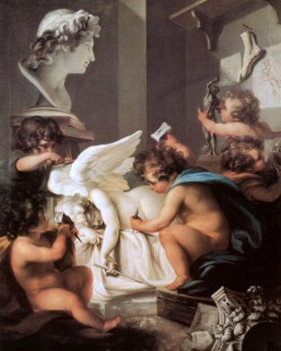 cherubs sculpt by Angelica Kauffmann (1741 – 1807,Swiss)