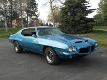 1972 Lucerne Blue GTO. Has well built 455,with all the goodies (600horse),TH 400,12 bolt posi 3.73's.  I drive this car every chance I get, what a blast to drive! Submitted by Kirk Harbarger.
