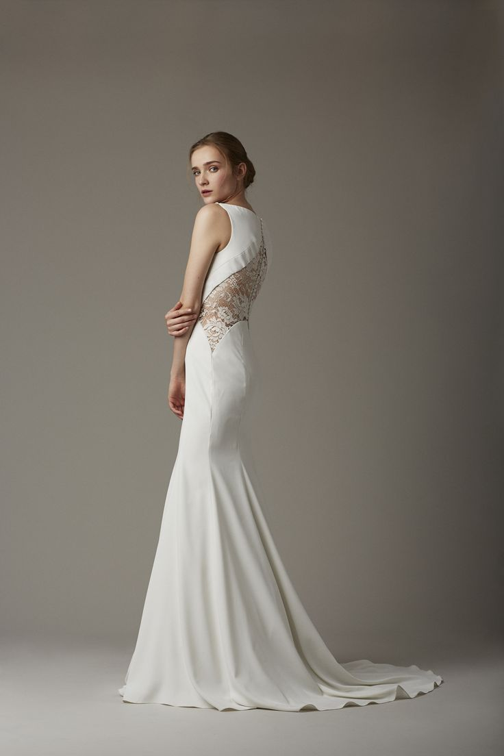 lace back detail x mermaid skirt ::  :: Spring 2016 Bridal collection by Lela Rose