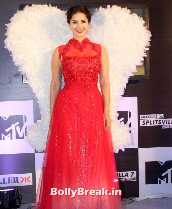 Sunny Leone in Red dress Sunny Leone at MTV Splitsvilla Photos - Press Conference - Sunny Leone in Red dress  at MTV Splitsvilla Press Conference , #sunnyleone #mtvsplitsvilla