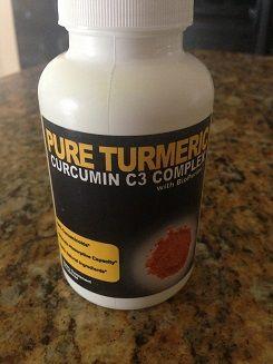 Each day- 1 tumeric capsule, 1 calcium, 1 multivitamin, 2 fiber pills and each night 4 oz. apple cider vinegar