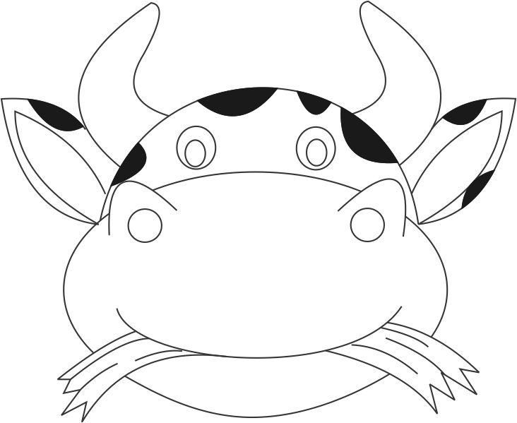 Cow Mask Printable Coloring Page For Kids  Face Mask Templates Printable