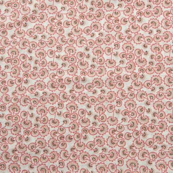 Portsea Printed Voiles, Coral Art Deco 137 cm - Voile - Lincraft