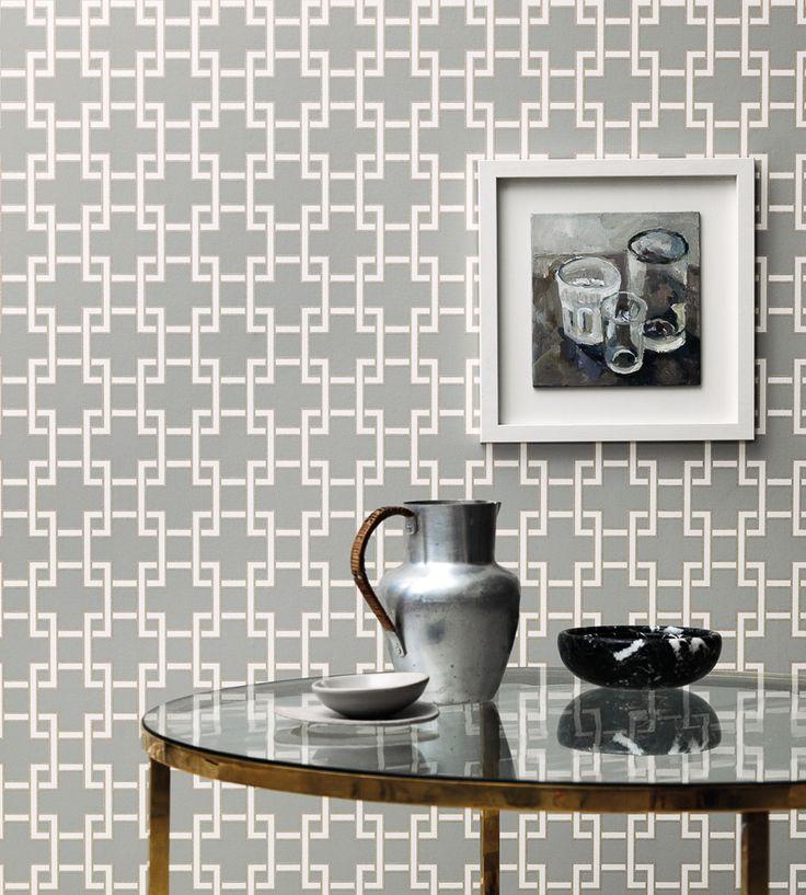 Contemporary Geometrics | Orden Wallpaper by Romo | Jane Clayton