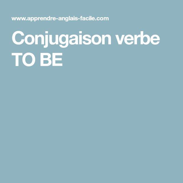 Conjugaison verbe TO BE