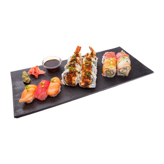 Impress your customers by using these high-quality and refined Large Faux Slate Plates.