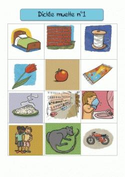 La dictée muette  Le principe : écrire le nom de ce qui est représenté sur l'image avec des lettres, un atelier silencieux et très intéressant pour l'aquisition des sons en phonologie