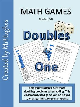 Your student's struggles with doubling is over! This math game is sure to become a class favorite.Students roll a die (or draw a number card) and...