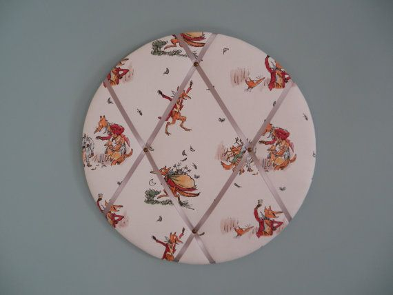 Large Fantastic Mr Fox fabric noticeboard - children's kids room - student study room - book gift - home decor