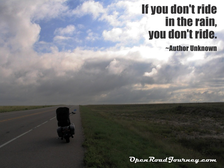 Motorcycle Quotes We Love Motorcycle On Road Rain