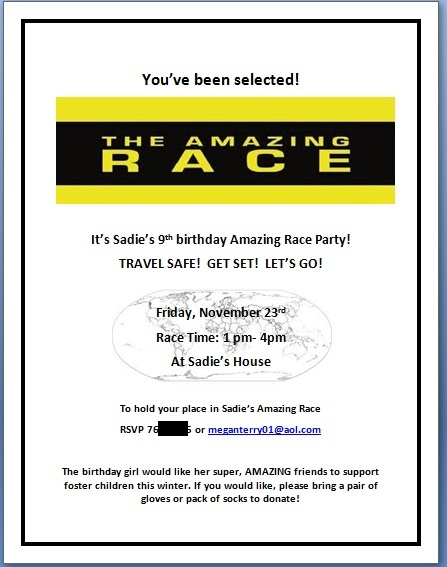 21 best amazing race b d party ideas images on pinterest for Amazing race birthday party templates