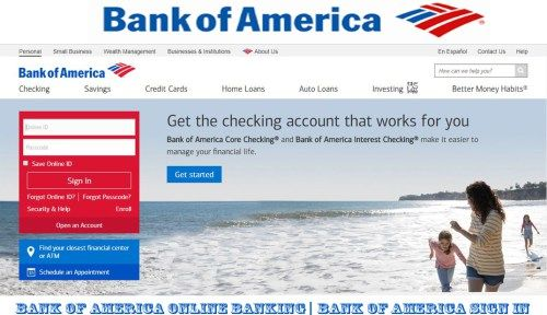 Bank Of America Online Banking Bank Of America Sign In Bingdroid