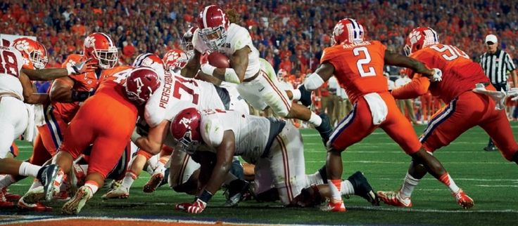 Derrick Henry scores vs Clemson - Jan. 18, 2016 Sports Illustrated Issue - CFB National Championship Issue #Alabama #RollTide #Bama #BuiltByBama #RTR #CrimsonTide #RammerJammer