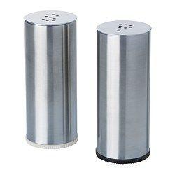 ПЛАТС Солонка/перечница, 2 штуки, нержавеющ сталь - IKEA