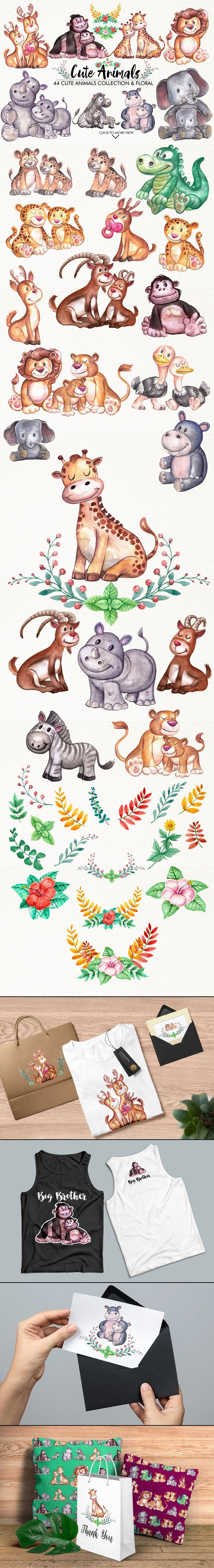 Cute Animals  by GRAPHOBIA on @creativemarket