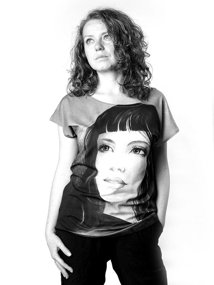 ADA | Szept M www.szeptm.pl #watercolor #blouse #face #portrait #woman #clotches