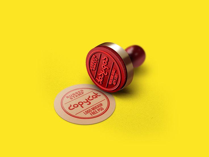 Rubber Stamp Logo Mockup FREE! (psd mock up)