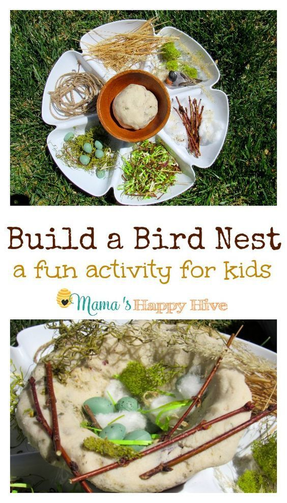Children love sensory play! This is an easy build a bird nest activity your child will love! - http://www.mamashappyhive.com
