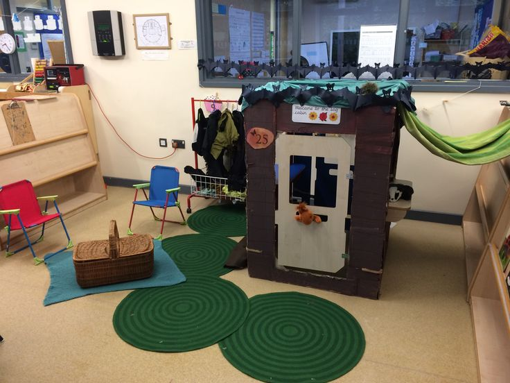 Woodland cabin for forest/woods theme #eyfs