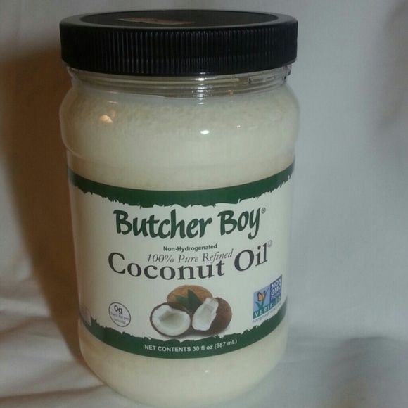 Coconut Oil hair & skin care/cooking/DIY Beauty Butcher Boy 100% Pure Refined Coconut Oil 30 oz jar. Non GMO Non- hydrogenated.  No coconut smell or scent since its refined so perfect to use to mix up your own beauty scrub or other products. Use as is for beautiful hair and skin AND even cook with it without giving your food a coconut taste (coconut burgers anyone. .. yuck! ). Butcher Boy Other