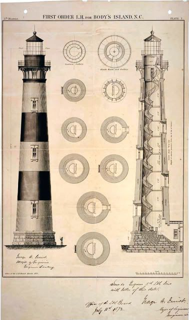 Lighthouse Design Plan Design Patent -Vintage Print | eBay