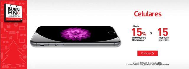 Hasta 15% en monedero electrónico en la compra de un celular, en Liverpool. Buen Fin, del 14 al 17 noviembre de 2014. #Promo #BuenFin