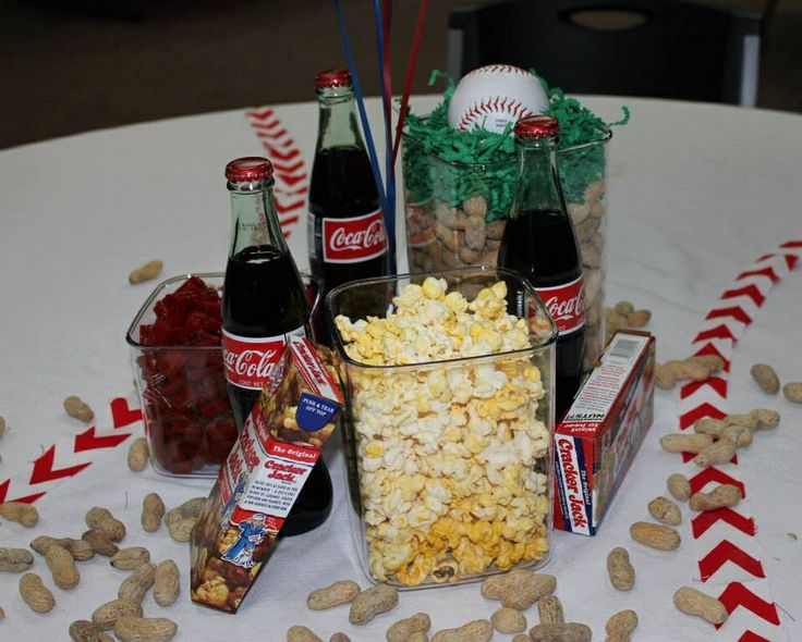 Baseball Party Centerpieces Birthday