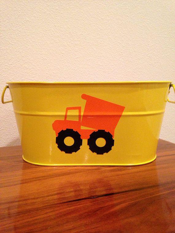 bucket trucks baby boy bedroom decor