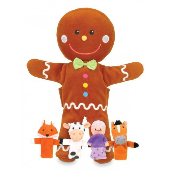 Fiesta Crafts - Gingerbread Man Hand and Finger Puppet Set #Entropywishlist and #pintowin Perfect to go with the Goldilocks and snow white puppets we own