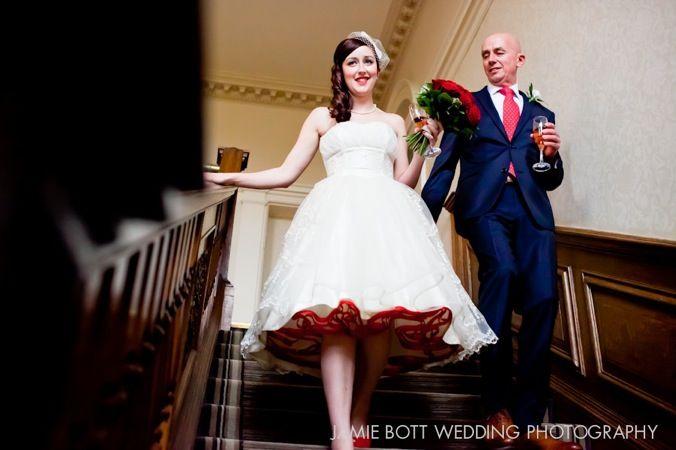A Retro Fabulous 1950s Style Wedding: Red Trimmed Petticoat  I LOVE the petticoat!!