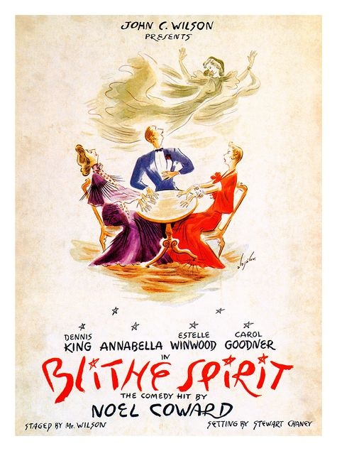 17 best blithe spirit images on pinterest shake light design and vintage theatre poster blythe spirit fandeluxe Image collections
