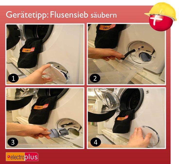 electroplus Gerätetipp:  Flusensieb säubern