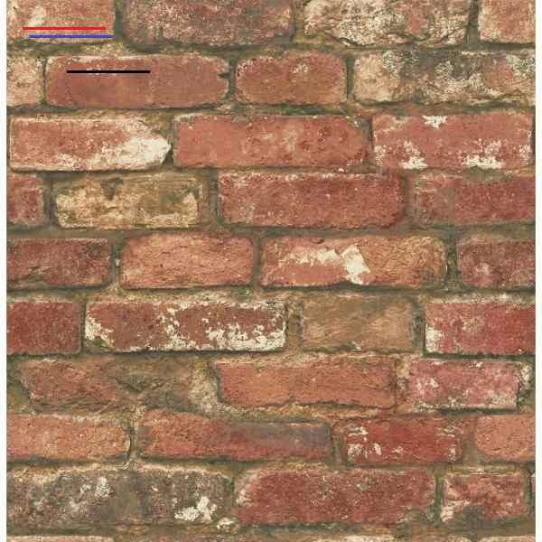Nuwallpaper 30 75 Sq Ft Red West End Brick Peel And Stick Wallpaper Nu2214hd2 The Home Depot I 2020 Kok