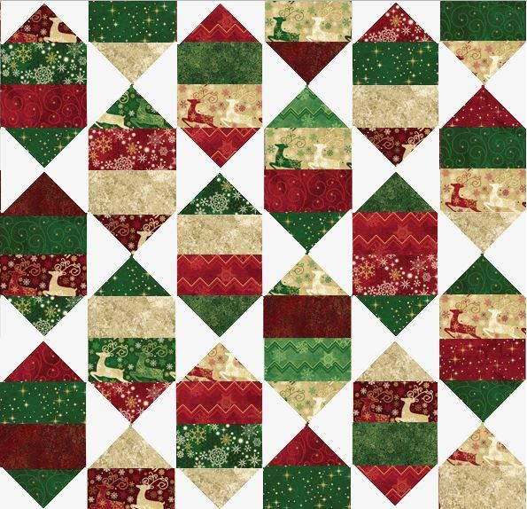 Holiday Nights Layer Cake Pattern | Deck the halls (and your home) with this festive free holiday quilt pattern!