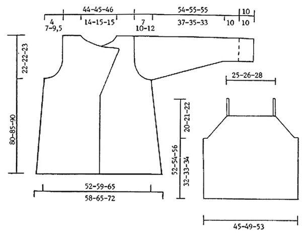 "DROPS 65-17 - DROPS Jacke in ""Vamp"" oder 2 Fäden Big Delight und DROPS Oberteil in ""Muskat"" und ""Cotton Viscose"" - Free pattern by DROPS Design"