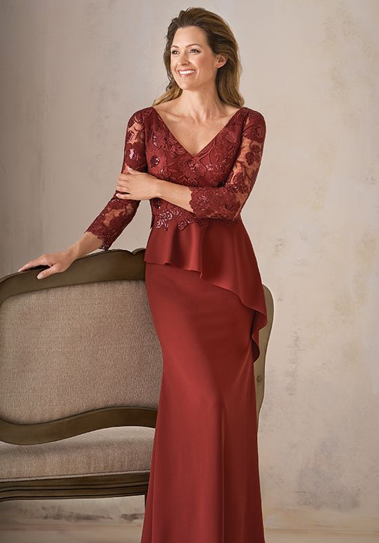 99d463eceb00 Sophisticated Mother of the Bride Dress made with Adeline Sequin Lace and  Stretch Crepe with Stretch