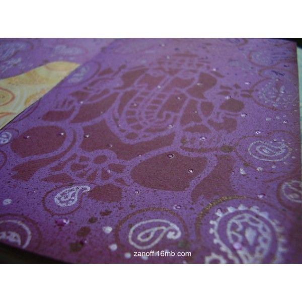 DIY notebook made with scraps of DIDYMOS India Natur Hemp babywrap -- Ganesha drawing on the flyleaf