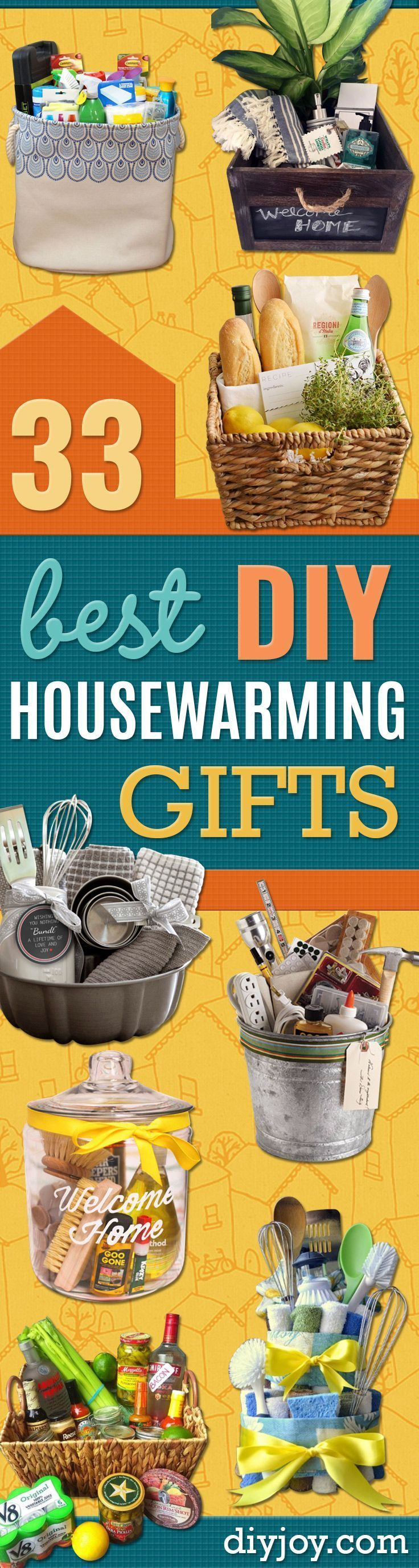 DIY Housewarming Gifts - Best Do It Yourself Gift Ideas for Friends With A New House, Home or Apartment - Creative, Cheap and Quick Crafts and DIY Ideas for Housewarming Presents - Mason Jar Gifts, Baskets, Gifts for Women and Men diyjoy.com/...