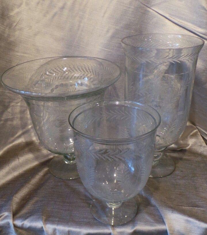 Edged crystal vases