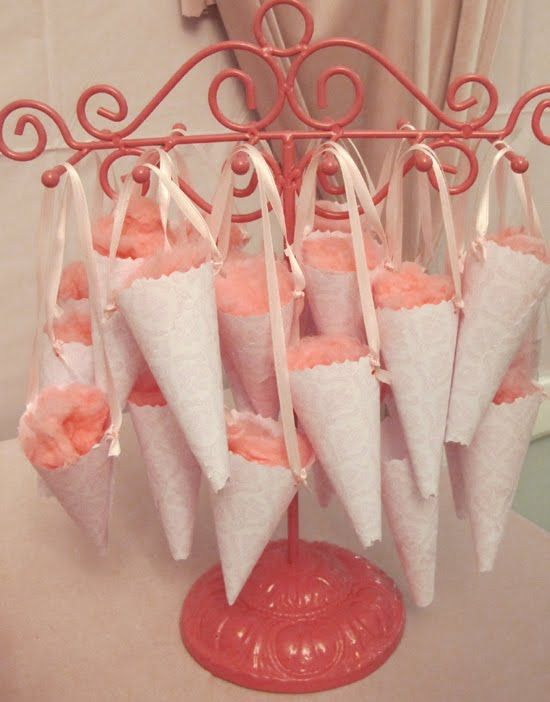 cotton candy: Paper Cones, Cotton Candy, Party'S, Ballerinas Birthday Parties, Parties Ideas, Glittery Ballerinas, Candy Cones, Birthday Ideas, Ballerinas Parties