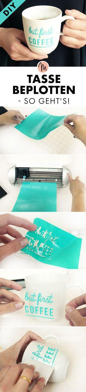 Tasse mit Plotter beplotten - Plott-Anleitung via Makerist.de