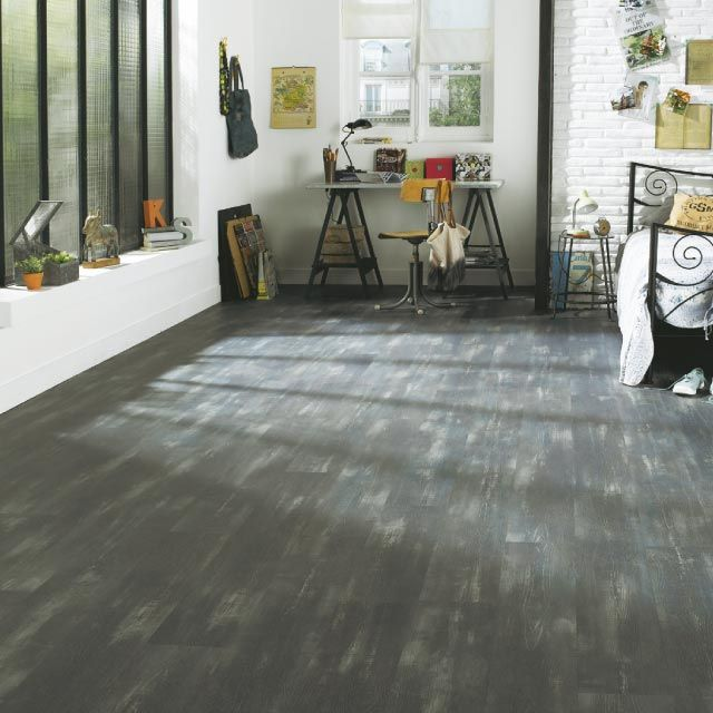 lame pvc vinyle clipsable gris starfloor castorama with. Black Bedroom Furniture Sets. Home Design Ideas
